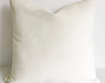 White Pillow Cover, White Throw Pillow, Christmas Pillow, Holiday Pillow,  Velvet Pillow
