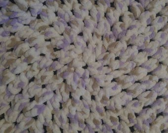 Chunky Crochet Baby Blanket Handmade, Photo Prop, Afghan, Lavender Crib Blanket, Granny Square Blanket, Crochet Baby Blanket, Baby Blanket.