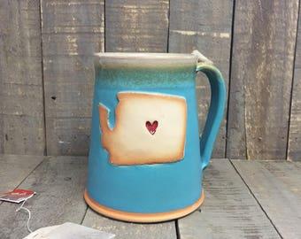 Washington mug, handmade washington mug, washington coffee mug, ceramic washington mug, clay washington mug, large washington mug, gift