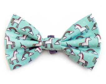 The Starr Bow Tie — Dog Bowtie, Made in Brooklyn, Bowtied, Rainbow, Unicorn, Wedding Clothes, Ring Bearer, Collar, Magical