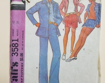 McCall's Pattern for a Man  #3581