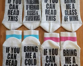 Womens If You Can Read This Socks
