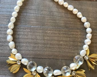 Freshwater Pearl Statement Necklace