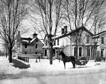 1880 - Home of WF Adams on Woodward in Detroit.