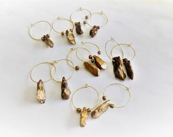 Titanium Hoops, Crystal Hoops, Gold Hoops, Stone Hoops, Crystal Earrings, Hoop Earrings, Gold Hoop Earrings, Celestial Hoop, Golden Hoops