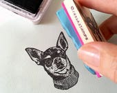 Custom Pet Portrait Stamp, Hand Carved Rubber Stamp, Pet Face, Special Gift, Pet Memorial, Pet Birthday