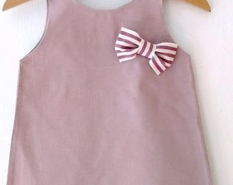 Pastel pink cotton dress