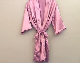One size Rose Gold satin robe