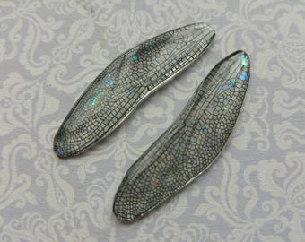 Dragonfly wings. Artbeads. Handmade fantasy beads. Insect wings. Entomologist. Resin