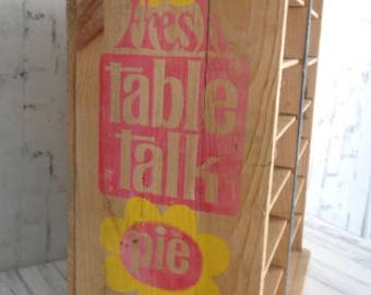 Pie Delivery Crate, Table Talk Pies, Bakery Display Pie Safe, General Store Display, Prim Farmhouse Fixer Upper Style, Wooden, Worcester MA