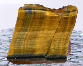 Tigers Eye 3x3x1/8 inches Slab Rough Natural Gemstone Slabs Tigers Eye Slabs Lapidary Slabs