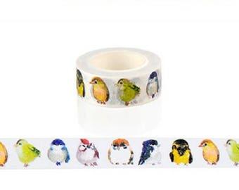 Washi tape with cute little birds - Washi tape bird