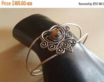 Holiday SALE 85 % OFF Tiger Eye Bracelet Gemstone  .925 Sterling  Silver