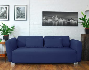 Slip cover to fit the ikea Mysinge 2 seat sofa NAVY