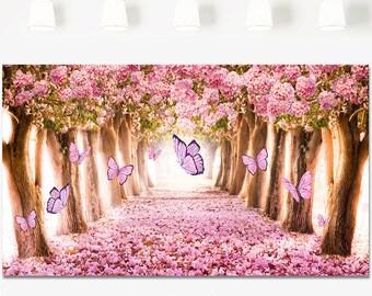 Birthday backdrop etsy for Butterfly garden designs free