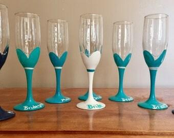 Bridal champagne flute set