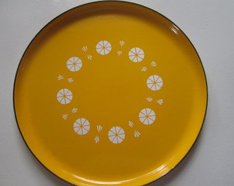 Yellow Catherineholm enamelware underplate for Saturn Fondue set