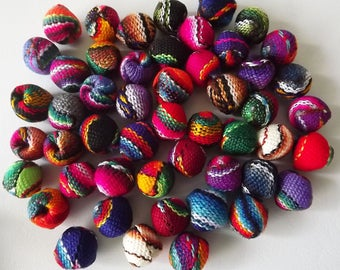50 pcs Manta Inka Textile Beads. To make Bracelets and Earrings.