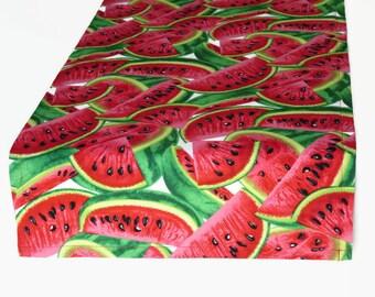 "Watermelon Table Runner 14"" x 48"" , Summer Table Runner 14"" x 48"", Watermelon Decor,  14"" x 48"" Watermelon Cloth Runner, Ready to Ship"