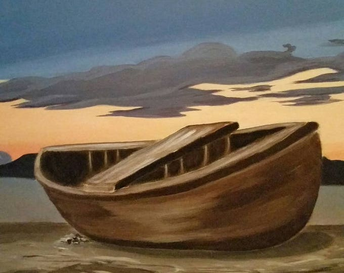 Fishing Boat At Sunset - 2015 State Fair 1st place - ready to ship!