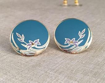 Laurel Burch Vintage Wind Flower Post Earrings