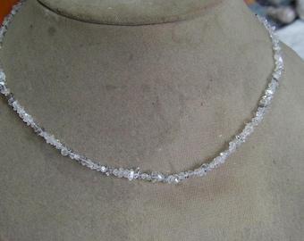1 Strand  Herkimer Diamond quartz Rough  beads 16''  10, grams  2X3, 3X5  MM