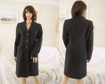 Grey wool coat | Etsy