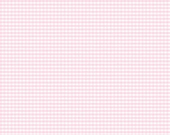 NEW!! Pink Fabric by the Yard - Fat Quarter Bundle - Quilt Fabric - Gingham Fabric - Pink Gingham - Riley Blake Designs - Small Gingham Pink
