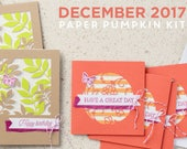 Paper Pumpkin Kit | December 2017 Paper Pumpkin | Flora and Flutter Paper Pumpkin | Stampin' Up | Craft Kit | Paper Crafting Kit
