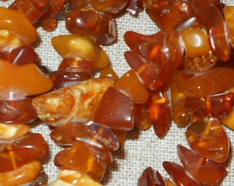 SALE - Long natural Baltic amber necklace