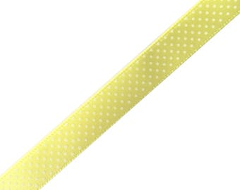 Fancy light green printed white dots Ribbon