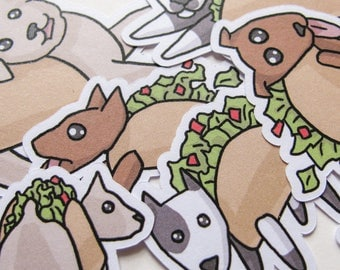 Taco Dog Stickers, Funny Food, Journaling, Sticker Flakes, Cute Stationery, Scrapbooking, Paper, Kawaii Stickers, Cute Puppy