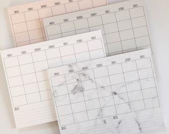 Monthly Calendar Deskpad-New Font