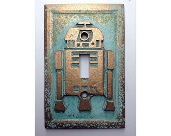 R2D2 (Star Wars) Light Switch Cover - Aged