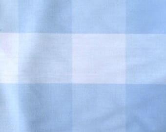 Blue and white Plaid cotton Poplin