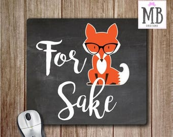 FLASH SALE 30% OFF For Fox Sake Mouse Pad, Mouse pad, Office Accessories, Fox Desk Accessories, Gift for Her, Mouse Pads
