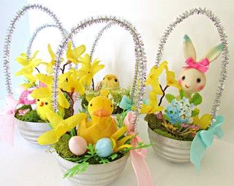 Easter Tart Tin Basket Ornaments