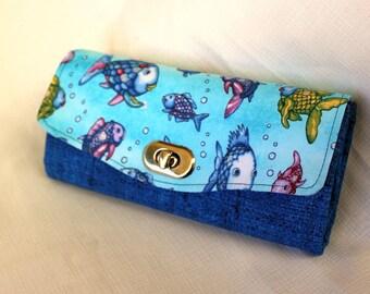 Rainbow Fish Clutch Wallet