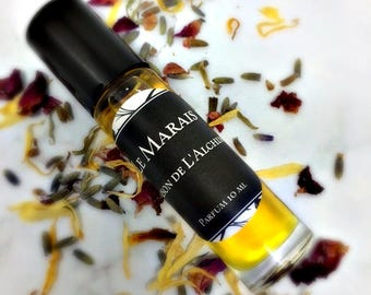 Sale! LE MARAIS Perfume Oil - Patchouli, Sweet Orange,Jasmine Sambac,Lavender,Lemongrass,Elemi,Pine,Natural Perfume,Vegan Perfume,Good Karma