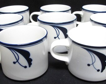 Set of 8 Dansk Flora Bayberry Coffee Cups
