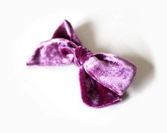 Amethyst Velvet Bow