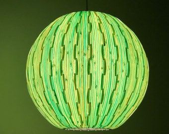 Latest Material,Beautiful Artist Hanging Lamp, Dyed Bamboo Veneer, Ceiling  Light, Pendant