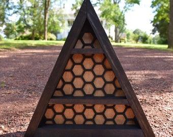 Honeycomb Background Triangle Display Shelf