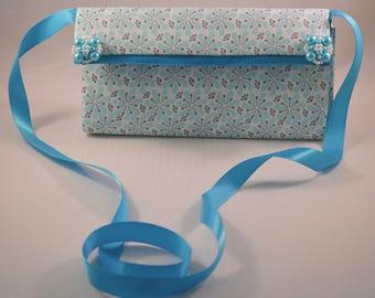 Light blue handmade purse/clutch
