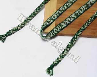 FREE SHIPPING Silk Tablet woven headband, hairband, diagonal waves pattern, viking, slavic, anglosaxon, medieval, trim, tablet weaving