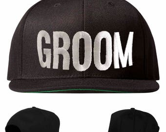 bestman hat, groom hat, groomsman hat, bachelor party hat, groomsman snapback, groom snapback, best man snapback, embroidered