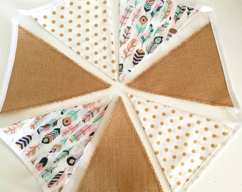 Fabric bunting / garland / nursery decor