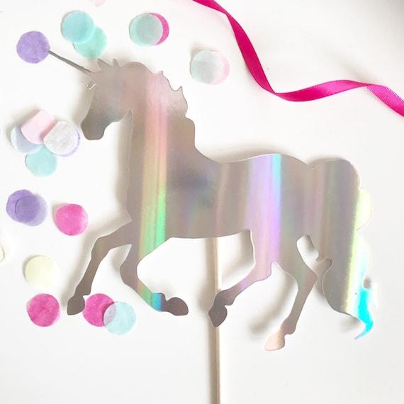 Unicorn Cake Topper | Unicorn Party | Holographic Unicorn | Holographic Party