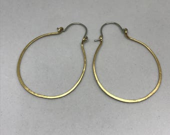 Nu Gold Brass Hoop Earrings
