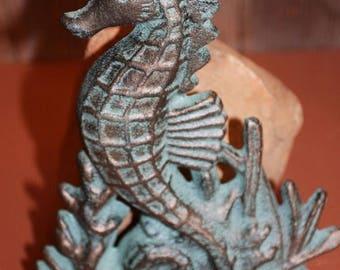 13% OFF 1) pc, Seahorse Doorstop, BL, Seahorse, doorstop, door stop, seahorse door stop, free shipping, seahorse decor, bronze look, nautica